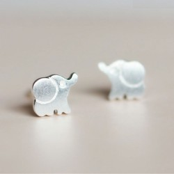 Fresh Fashion Cute  Elephant S925 Sterling Earring