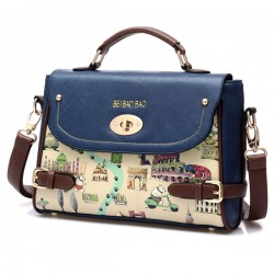 Cute Cartoon Leather Handbag Shoulder Bag