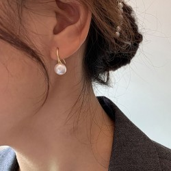 Elegant Pearl Hook Earrings Studs Jewelry For Her Drop Earrings