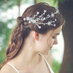Fresh Handmade Bridesmaid Star Branch Rhinestone Hair Clip Wedding Bridal Women's Hair Accessories