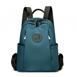 Retro Simple INS Style Side Zipper College School Bag Girl Teen Backpack