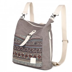 Folk Ladies Canvas Backpack Totem Women Rucksack National School Bag