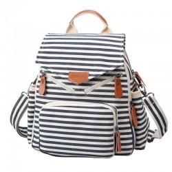 Navy Style Striped Canvas New Multi-function Shoulder Bag Handbag Backpacks
