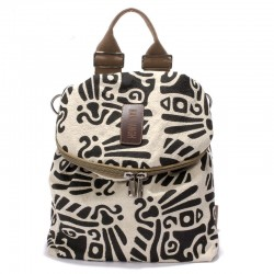 Vintage Literary Totem Printed Multifunction Backpack Shoulderbag Travel Backpack