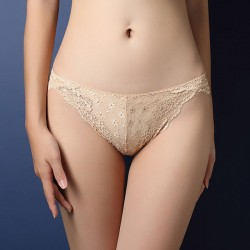 Sexy Leaves Panties Hollow Embroidery Lace Underwear Intimate Lingerie