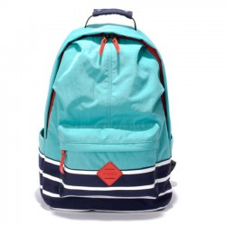 Fresh Candy Color College Nylon Travel Bag Stripe School Large Backpack