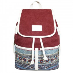Leisure Folk College Ladies Totem Canvas Bag Student Backpack