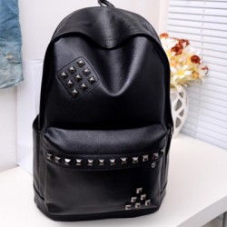 Punk Rivet College Backpack
