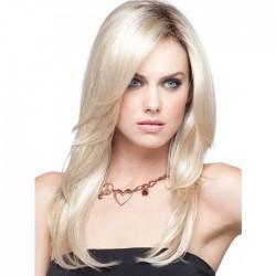 New Golden Gradient White Women Long Hair Wig