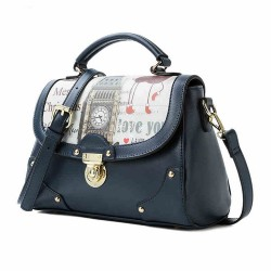 Fashion British Big Ben Butterfly Printing Shoulder Bag&Messenger Bag