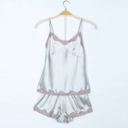 Sexy Silk Lace straps Sleeveless Pajamas