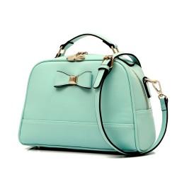 Sweet Candy Color Bow Leather Shoulder Bag&Messenger Bag