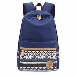 Folk Style Pure Irregular Printed Geometry Canvas Backpack