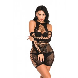 Sexy Lace Intimate Nightdress Fishnet Butterfly Hollow Women's Lingerie