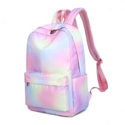Fresh Rainbow Gradient Color Water Resistant Large Size Laptop Bag Student Backpack Junior School Bag Backpack