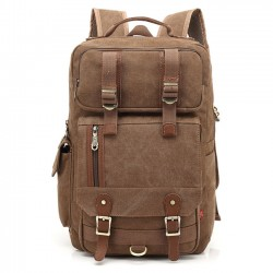 Leisure Large Men's Outdoor Travel Bag Multi-function Canvas Backpack