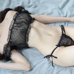 Sexy Princess Perspective Temptation Fresh Tube Bra Panty 2 Piece Set Underwear Pajamas Women Lingerie
