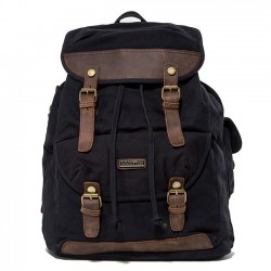Women Men's Vintage Canvas Outdoor Hiking Rucksack Laptop Bag Large Camping Backpack