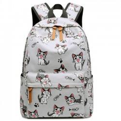 Cute Cartoon Bird Horse Cat Dot Head Large Canvas Animal School Backpack