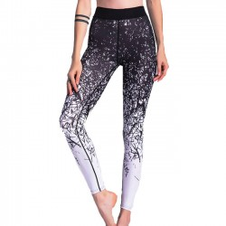 Unique Gigi's Sports Leggings Jean Irregular Gradually Change Lines Printing Yoga Skinny Legging
