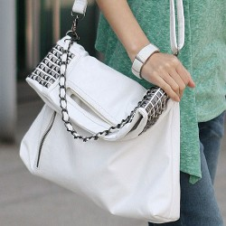 Fashion Punk Rivet Handbag & Shoulder Bag