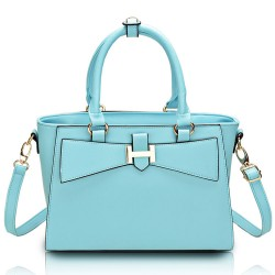 Elegant Cross Pattern Bow Shoulder Bag & Handbag