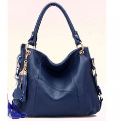 Fashion Leather Tassel Lychee Emboss Handbag&Shoulder Bag