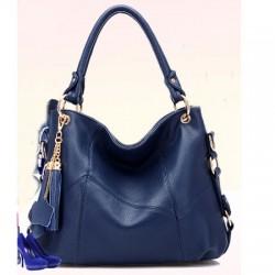 Fashion Leather Tassel Lychee Emboss Handbag&Shoulder Bag