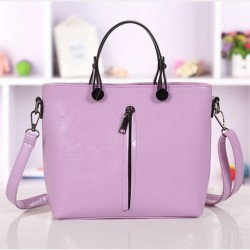 Elegant Purple Fashion Zipper Small Fresh Handbag&Shoulder Bag