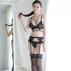 Sexy Black White Lace Bra Panty 2 Piece Set Temptation Hot Porn Teenage Intimate Lingerie