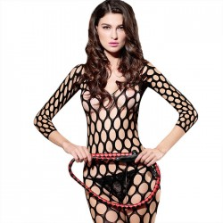 Bodysuit Lingerie For Women Black Big Fishnet Crotchless Hollow Temptation Teddy Stockings One Piece Lingerie Bodystocking