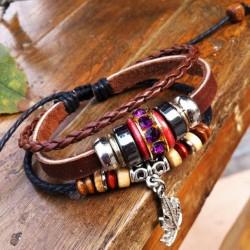 Clover Retro Leather Bracelet