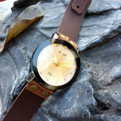 Retro Elegant Rhinestone Champagne Watch