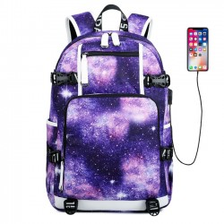 Cool Starry Sky Space Waterproof Large Oxford Nebula Galaxy High School Bag Travel Backpack