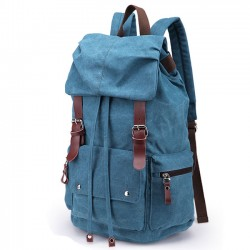 Retro Large Laptop Rucksack Travel School Bag Travel Bags Thick Canvas Backpack