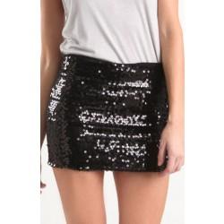 New Temperament Aristocratic Ladies Slim Sequined Skirt