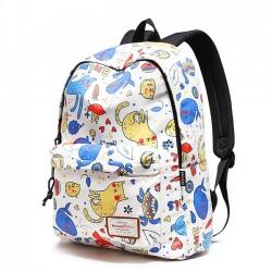 Cute Dolphin Cartoon Cat School Bag Kitten Tortoise Animal Waterproof Polyester Student Backpack
