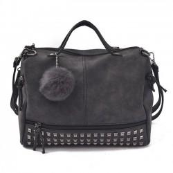 Retro Frosted Rivet Multi-function Handbag Punk Shoulder Bag