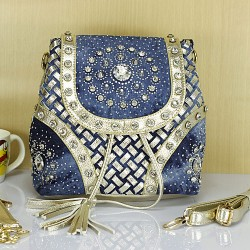 Fashion Fireworks Rhinestone Weave Tassel Backpack