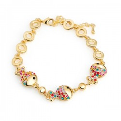 Jewelry Colorful Crystal Fish Bracelet