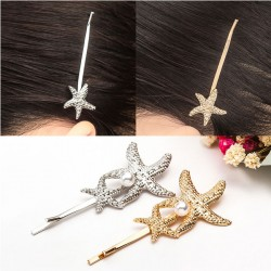 Fashion Conch Pearl Hairpin Clip Shell Starfish Hair Accessory