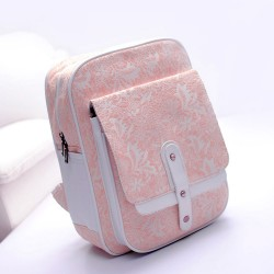 Sweet Pink Lace Embroidered Nice Backpack