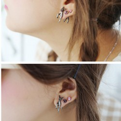 Fashion Cute Three-Dimensional Deer Women Earring Studs