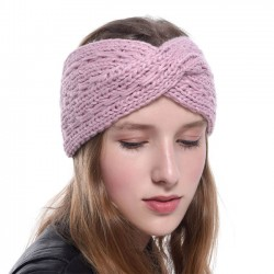 Leisure Diagonal Headbands Cross Hair Accessories Thick Wool Knitting Headband