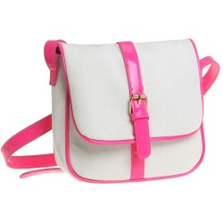 Fresh Simple Sweet Hit Color Canvas Square Floral Pattern Inside Messenger Bag Shoulder Bag
