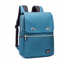 Simple Large School Backpack Leisure Nylon British Style Student Bag