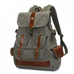 Retro Large Outdoor Travel Canvas Rucksack Waterproof Student Backpack