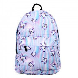 Cartoon Cute Horse Head Gradient Laser Animal School Backpack