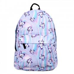 Cartoon Cute Horse Head Gradient Laser Animal School Backpack