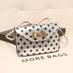 Cute Wave Point Bow Mini Small Bag